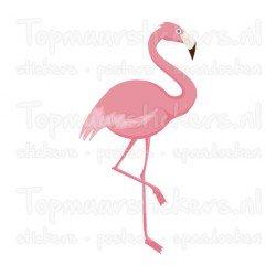 Muursticker - Interieursticker Flamingo
