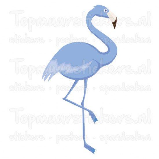 Muursticker - Interieursticker Flamingo blauw