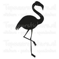 Muursticker - Interieursticker Flamingo monochrome