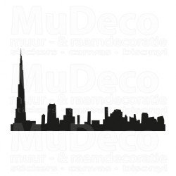 Muursticker - Interieursticker Skyline Dubai