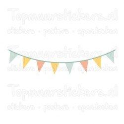Muursticker - Interieursticker Slinger kleur