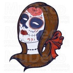 Muursticker - Interieursticker Sugar Skull women three