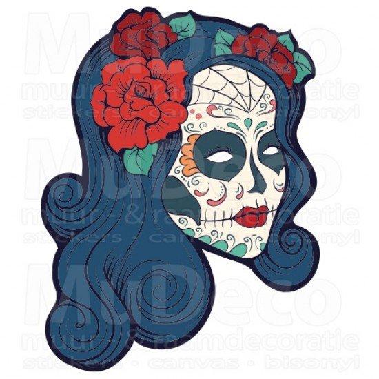 Muursticker - Interieursticker Sugar Skull women two
