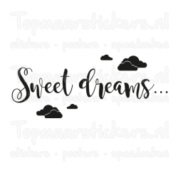 Muursticker - Interieursticker Sweet dreams clouds