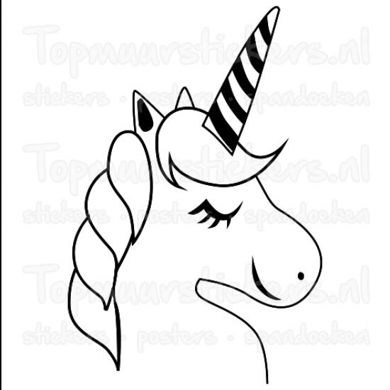 Muursticker - Interieursticker Unicorn