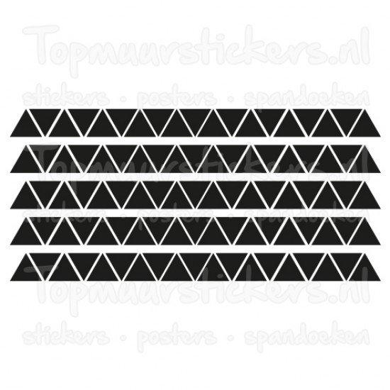 Muursticker - Interieursticker Driehoeken / triangel 5cm