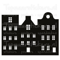 Muursticker - Interieursticker Huisjes versie 1
