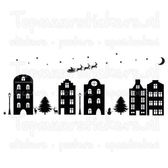 Statische raamsticker - Sinterklaas / Kerstmis