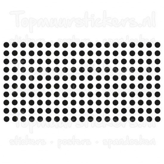 Muursticker - Interieursticker Stippen dots 2 cm