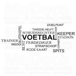 Muursticker - Interieursticker Voetbal
