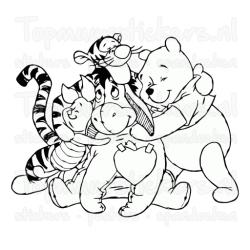 Muursticker - Interieursticker Winnie the Pooh groep 2