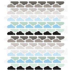 Muursticker - Interieursticker Wolken clouds chrome blauw