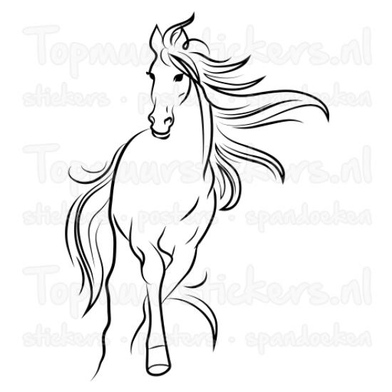 Paarden Sticker Muur.Muursticker Paard