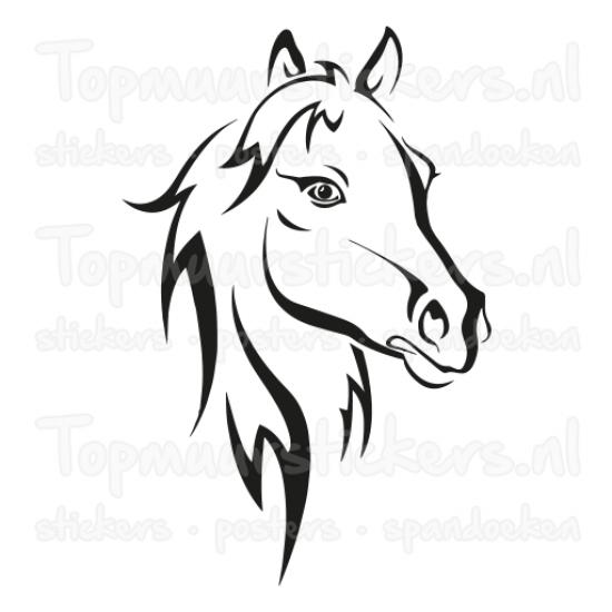 Muursticker - Paard zijkant