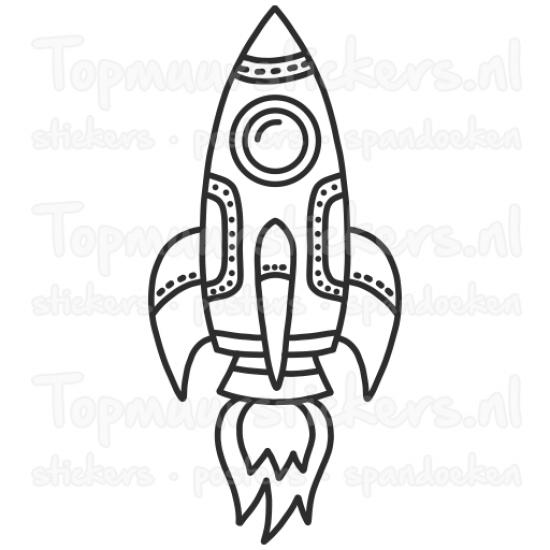 Muursticker - Raket