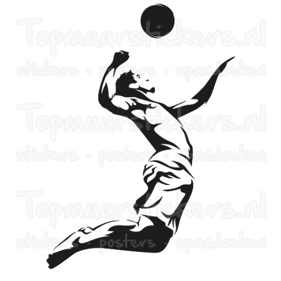 Muursticker - Volleybal man