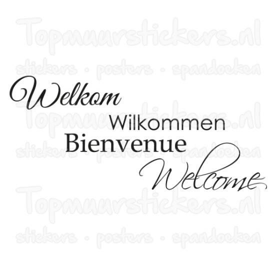 Muursticker - Welkom
