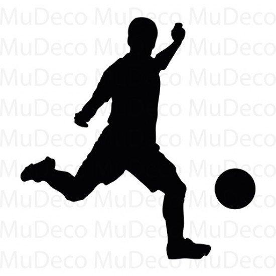 Muursticker - Interieursticker Sport Voetballer 4