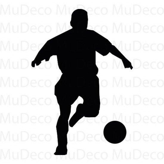 Muursticker - Interieursticker Sport Voetballer 5
