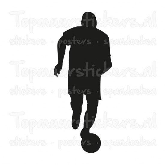 Muursticker - Interieursticker Sport Voetballer 6