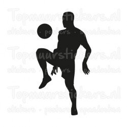 Muursticker - Interieursticker Sport Voetballer 7