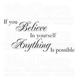 Muursticker - Muurtekst Believe in yourself