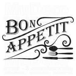 Muursticker - Muurtekst Bon appetit