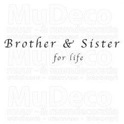 Muursticker - Muurtekst Brother and Sister