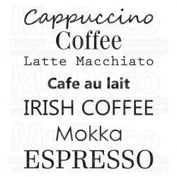 Muursticker - Muurtekst Coffee