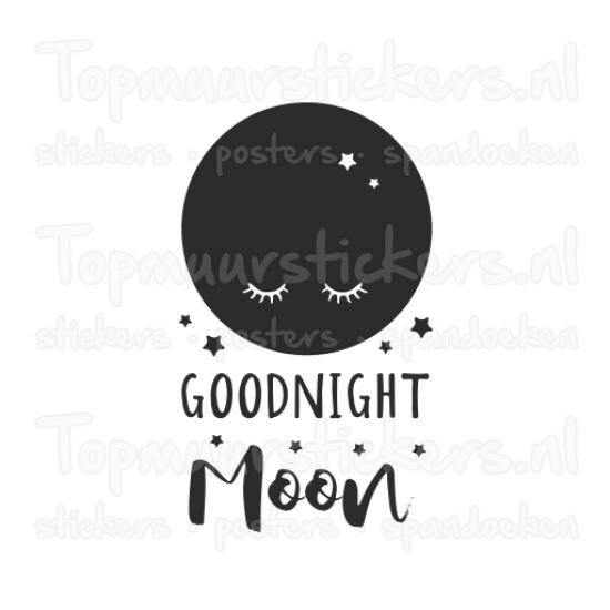 Muursticker - Muurtekst Goodnight moon