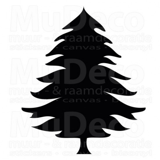 Muursticker - Interieursticker Kerst Kerstboom 1