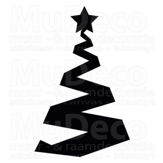 Muursticker - Interieursticker Kerst Kerstboom 2