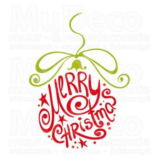 Muursticker - Interieursticker Kerst Merry Christmas