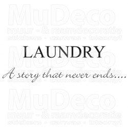 Muursticker - Muurtekst Laundry a story