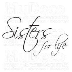 Muursticker - Muurtekst Sisters for life
