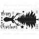 Statische raamsticker - Merry Christmas