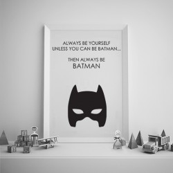 Poster - Can be Batman