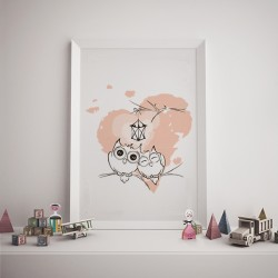 Poster - Cute owls