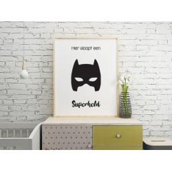 Poster - Hier slaapt een superheld