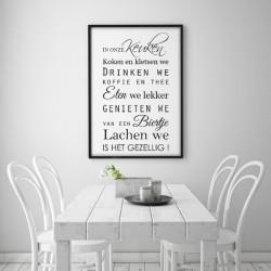 Poster - In onze keuken