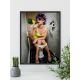 Poster - Lady on toilet drinking