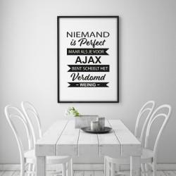 Poster - Niemand is perfect AJAX